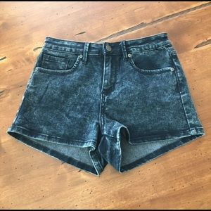 Forever 21 Dark Acid Wash Denim Shorts